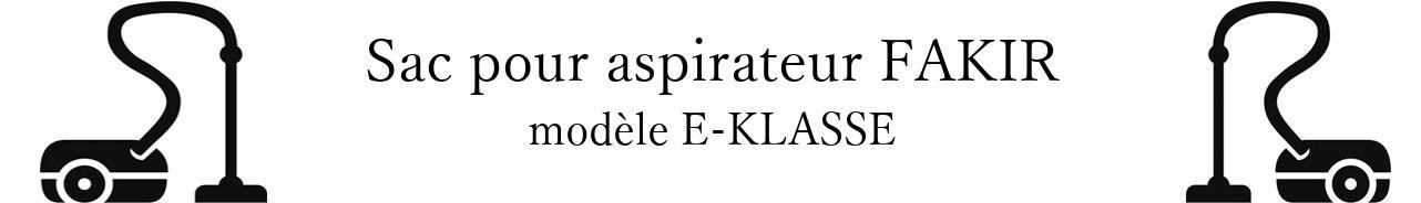 Sac aspirateur FAKIR E-KLASSE en vente