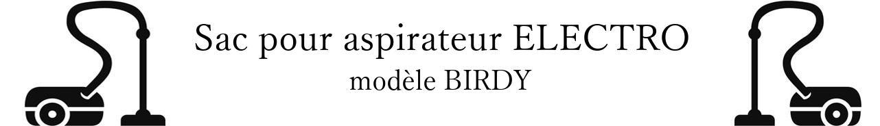 Sac aspirateur HOLLAND ELECTRO BIRDY en vente
