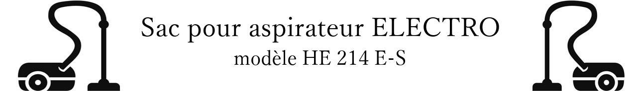 Sac aspirateur HOLLAND ELECTRO HE 214 E-S en vente