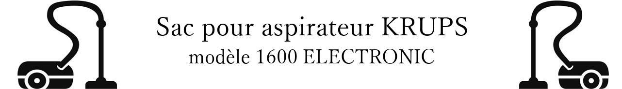 Sac aspirateur KRUPS 1600 ELECTRONIC en vente