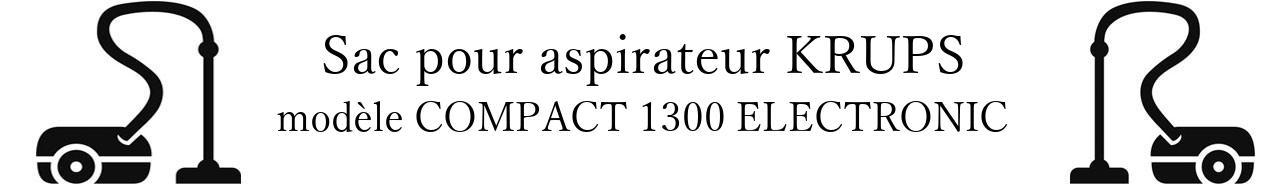 Sac aspirateur KRUPS COMPACT 1300 ELECTRONIC en vente