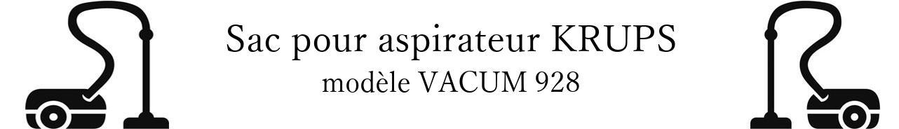 Sac aspirateur KRUPS VACUM 928 en vente