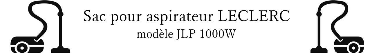 Sac aspirateur LECLERC JLP 1000W en vente