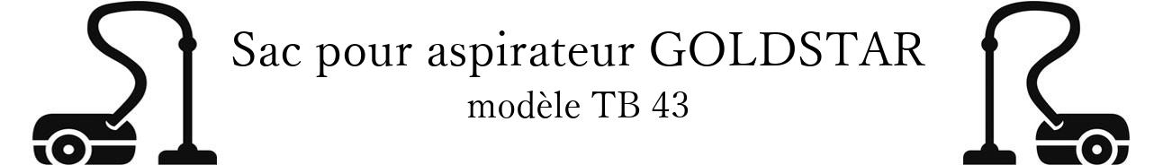 Sac aspirateur LG- GOLDSTAR TB 43 en vente