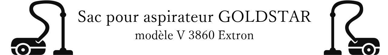 Sac aspirateur LG- GOLDSTAR V 3860 Extron en vente