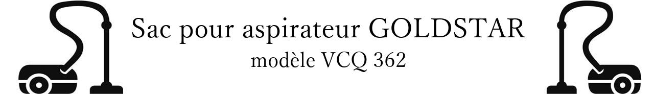 Sac aspirateur LG- GOLDSTAR VCQ 362 en vente