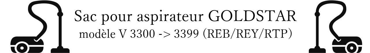 Sac aspirateur LG- GOLDSTAR V 3300 -> 3399 (REB/REY/RTP) en vente