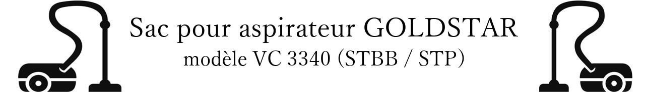 Sac aspirateur LG- GOLDSTAR VC 3340 (STBB / STP) en vente