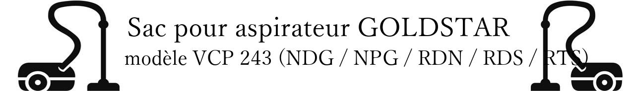 Sac aspirateur LG- GOLDSTAR VCP 243 (NDG / NPG / RDN / RDS / RTS) en vente