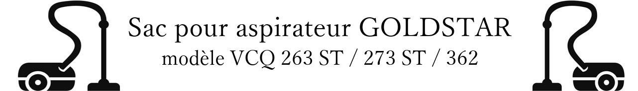 Sac aspirateur LG- GOLDSTAR VCQ 263 ST / 273 ST / 362 en vente